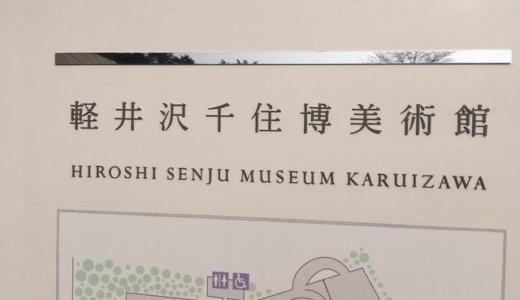 【軽井沢千住美術館】展示も建築も幸せの美術館って感じだった